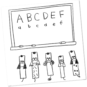 Dogs learning ABC